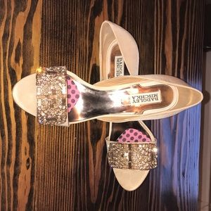 Wedding shoes size 8.5 champagne and rose gold